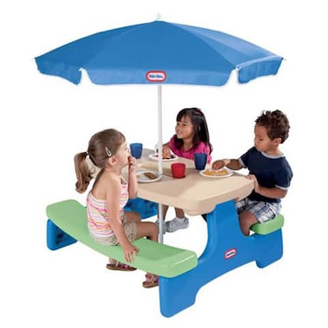 Easy Store Picnic Table with Umbrella