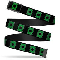 Green Lantern Logo Close Up Fcg Black Green  Chrome Green Lantern Logo Web Belt