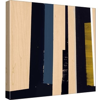 """PTM Images 9-98842  PTM Canvas Collection 12"""" x 12"""" - """"Geometric Stripes"""" Giclee Abstract Art Print on Canvas"""