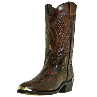 Laredo Western Boots Mens New York Faux Lizard Peanut Brown 68082