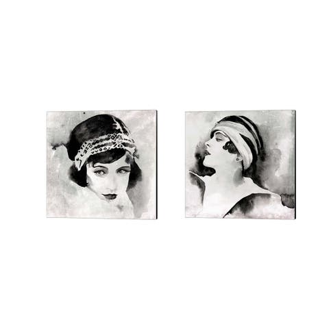 Jennifer Parker 'Les Yeux Noir' Canvas Art (Set of 2)