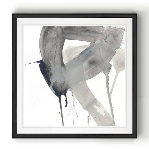 Swath I -Black Framed Print