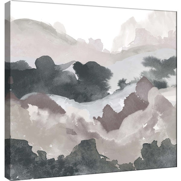 "PTM Images 9-100490 PTM Canvas Collection 12"" x 12"" - ""Layers of Winter D"" Giclee Mountains Art Print on Canvas"