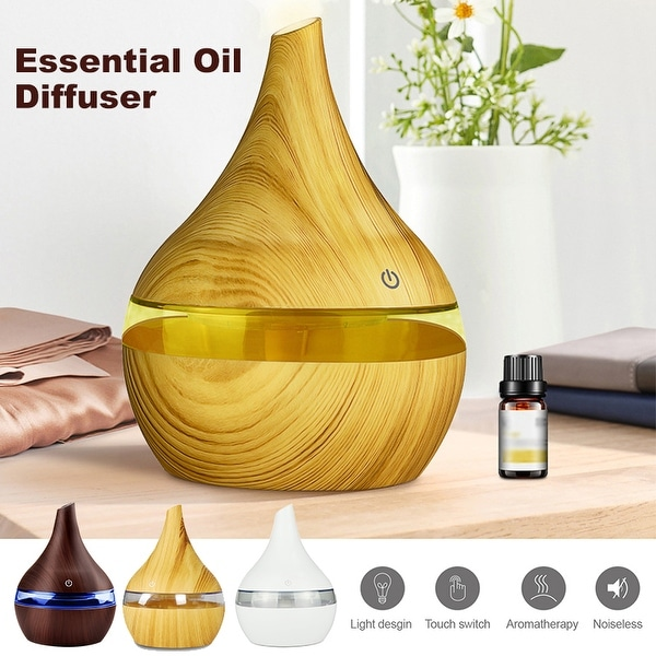 300ml USB Essential Oil Diffuser 7-Color Changing Air Humidifier Aromatherapy Aroma Atomization Purifier Touch Control. Opens flyout.
