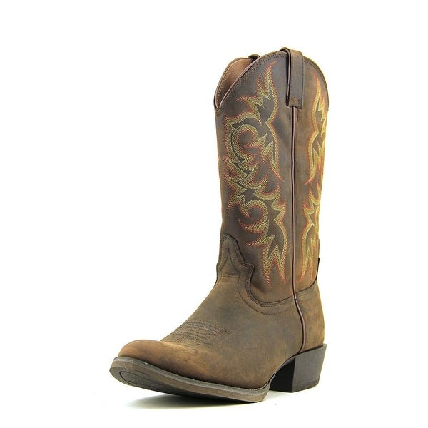 Justin Boots Sorrel Apache Round Toe Leather Western Boot