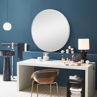 Link to Carson Carrington Salmi Large Aluminum Alloy Round Mirror Similar Items in Mirrors