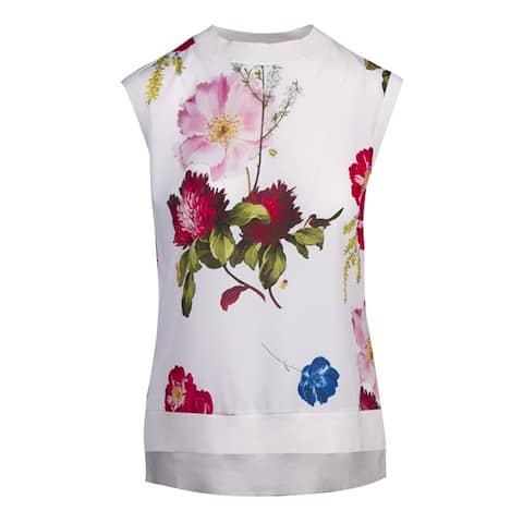 Ted Baker Womens Silenaa Berry Sunday Top Sweater Vest Jumper