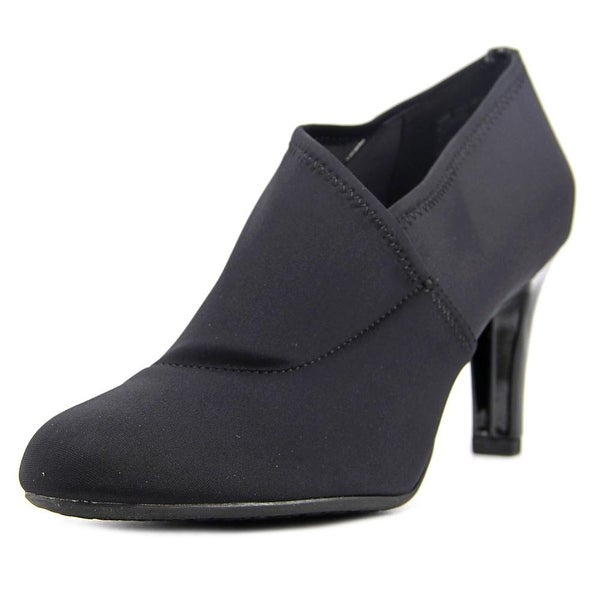 Bandolino Ladson Women Round Toe Canvas Black Bootie