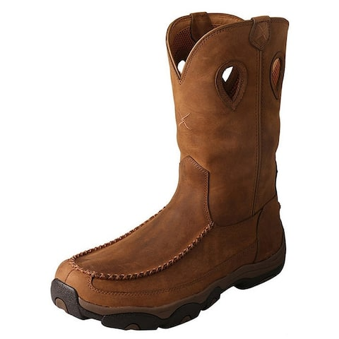 """Twisted X Outdoor Boots Mens Hiker 11"""" Shaft Distressed Saddle"""