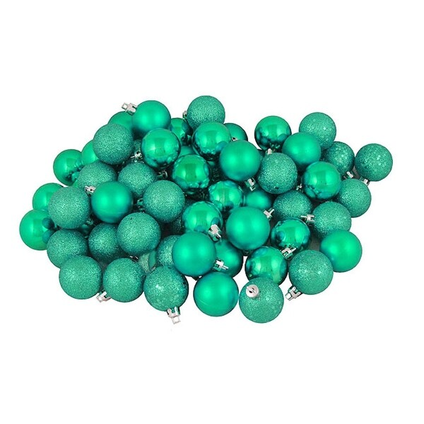 "96ct Seafoam Green Shatterproof 4-Finish Christmas Ball Ornaments 1.5"" (40mm)"