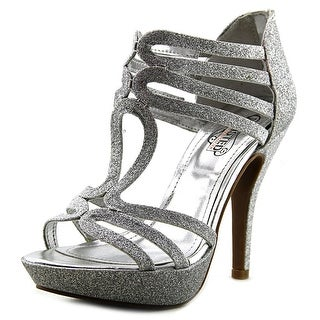 Unlisted Kenneth Cole Flower Hour Women Open Toe Synthetic Silver Platform Heel
