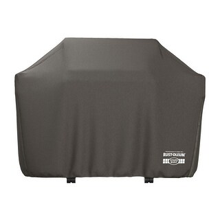 Rust-Oleum Premium Weatherproof Grill Cover, 60x48x22 Inches - Black