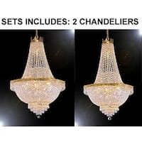 Set of 2 -Empire French Crystal Chandelier