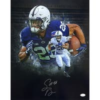 Saquon Barkley Signed 16x20 Penn State Collage Photo JSA Signature Debut