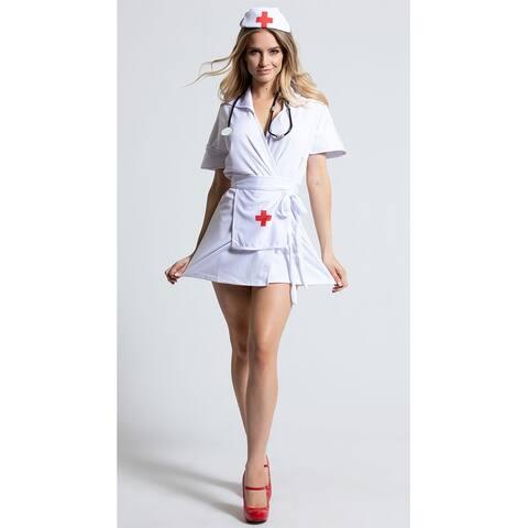 Heart Stopping Hottie Nurse Costume, Fashion Nurse Costume - White