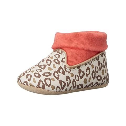 Rosie Pope Kids Footwear Playful Leopard Crib Shoes Leopard Print Infant Girls
