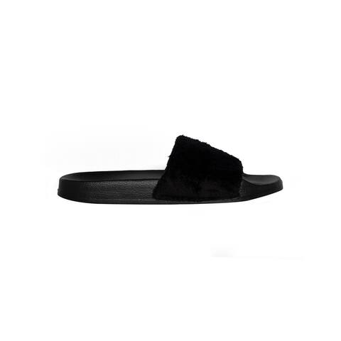Slippers - Faux sheepskin slides