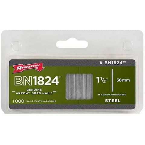 """Arrow Fastener BN1824CS Steel Brad Nails, 18-Gauge, 1-1/2"""", 1000-Pack"""