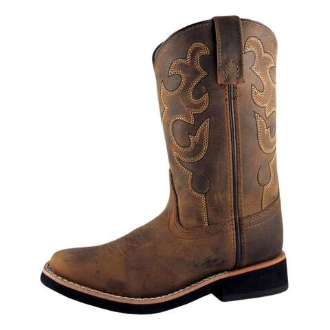Smoky Mountain Western Boots Boy Pueblo Dark Crazy Horse