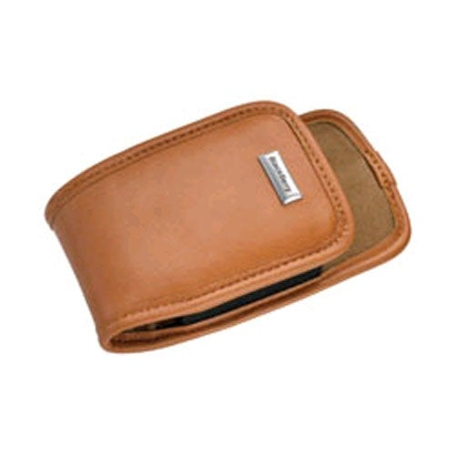 OEM BlackBerry 7100g, 7100r Leather Clip Holster - Camel