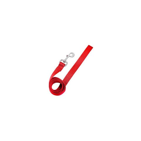 Warren pet products 2930001 5 8x48 adjustable nylon dog lead red