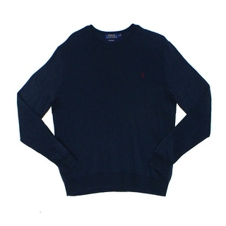 Polo Ralph Lauren NEW Navy Blue Mens Size Large L Crewneck Sweater