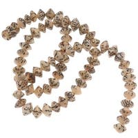 Natural Betel Nut Bicone Beads - 8x5mm 16 Inch Strand