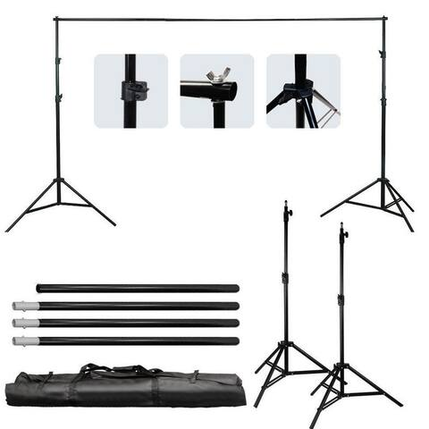 10Ft Adjustable Photography Video Background Support Stand Kit