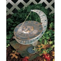 Whitehall Products French Sun and Moon Sundial, Oil Rub Bronze