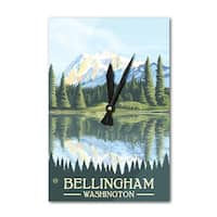 Bellingham, WA - Mount Shuksan - LP Artwork (Acrylic Wall Clock) - acrylic wall clock