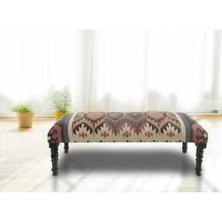 "Link to LR Home Colorful Southwestern Indoor Bench - 3'11"" x 1'4"" Similar Items in Living Room Furniture"