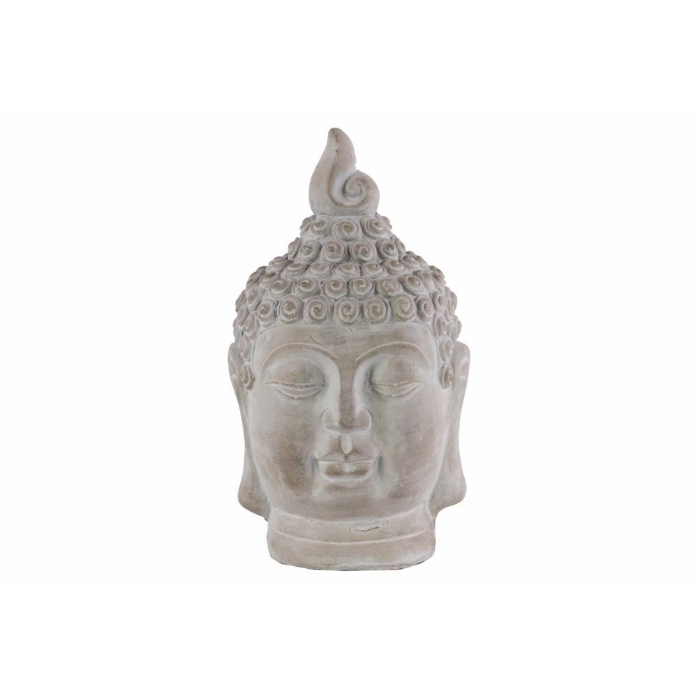 Cemented Buddha Head with Pointed Ushnisha, Gray