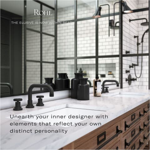 Rohl A1408XM-2 Viaggio 1.2 GPM Widespread Bathroom Faucet with Pop-Up