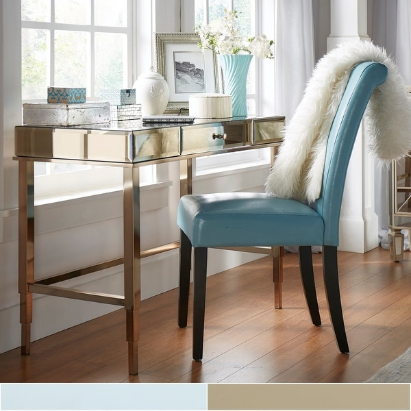 Camille Beveled Mirrored Accent 1-drawer Office Writing Desk by iNSPIRE Q Bold. Opens flyout.