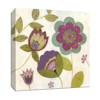 """PTM Images 9-147115  PTM Canvas Collection 12"""" x 12"""" - """"Posie II"""" Giclee Flowers Art Print on Canvas"""