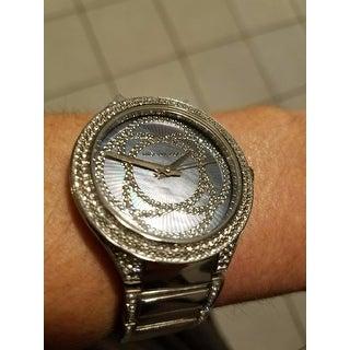 Michael Kors Women's Kerry Grey Mother Of Pearl Dial Stainless Steel Bracelet Watch