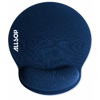 Allsop ALS30206B Memory Foam Mouse Pad with Wrist Rest (Blue)