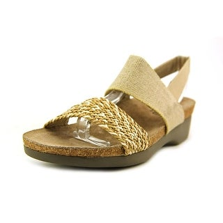 Munro American Pisces SS Open-Toe Canvas Slingback Sandal