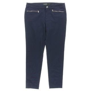 Lauren Ralph Lauren Womens Petites Leggings Stretch Zipper Pockets