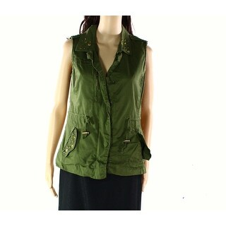 Angel Kiss NEW Green Womens Size Medium M Vest Sleeveless Sweater