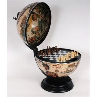 Old Modern Handicrafts NG015 White Globe 13 inches with chess holder