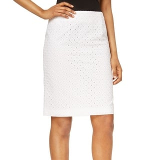 Nine West NEW White Women's Size 16 Eyelet Straight Pencil Skirt|https://ak1.ostkcdn.com/images/products/is/images/direct/a7d8155f3aa458711f09bdc48af151b203db36ad/Nine-West-NEW-White-Women%27s-Size-16-Eyelet-Straight-Pencil-Skirt.jpg?impolicy=medium