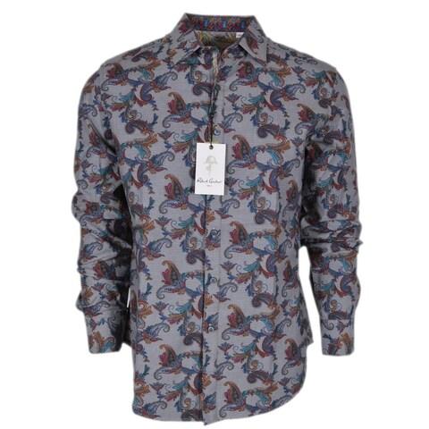 Robert Graham MASSIF Paisley Print Cotton Classic Fit Sports Shirt