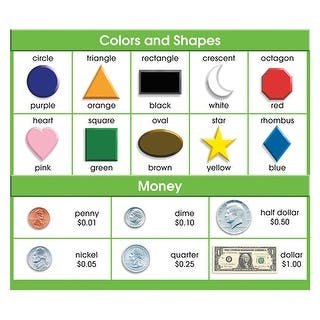 Adhesive Desk Prompts Colors Shapes