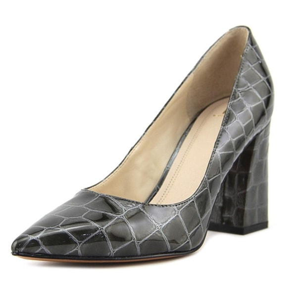 Marc Fisher Jenny Women Pointed Toe Synthetic Brown Heels
