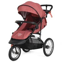 Baby-Joy Portable Folding Stroller Baby Jogger Kids Travel Pushchair Adjustable Handlebar - Red