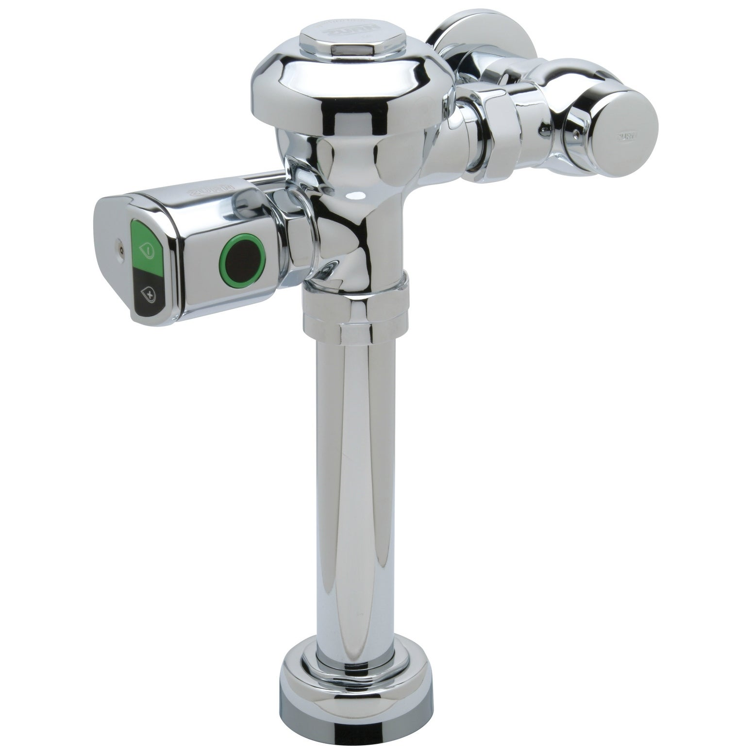 Zurn ZR6000AV-WS1-DF  AquaSense 1.0 GPF Sensor Operated Battery Powered Flush Valve for Water Closets with Dual Flush - Chrome