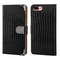 Insten Leather Crocodile Skin Case Cover with Wallet Flap Pouch/ Diamond For Apple iPhone 7 Plus - Thumbnail 3