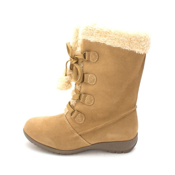 Sporto Womens Joey Leather Closed Toe Mid-Calf Cold Weather Boots - 8