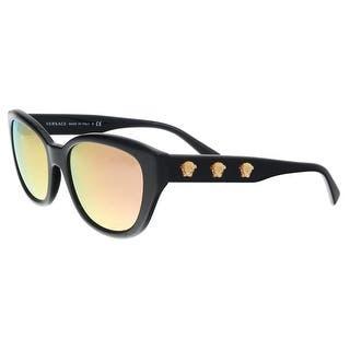 60fd150d2d Versace VE4343 GB1 2Y Black Oval Sunglasses - 56-18-140